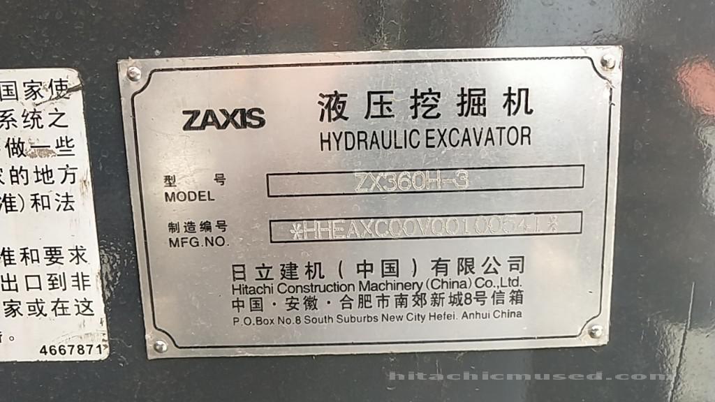 日立挖掘机_精品放心机_ZX360H-3_2019年出厂5小时