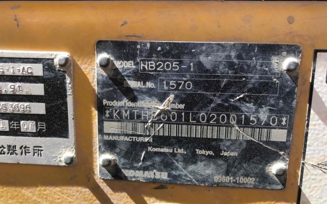 小松挖掘机HB205-1_2011年出厂5981小时