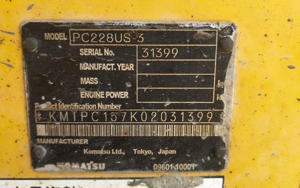 小松挖掘机PC228US-3_2004年出厂13803小时