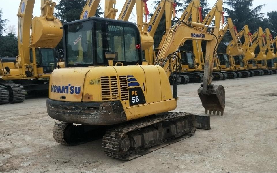 小松挖掘机PC56-7_2013年出厂7357小时